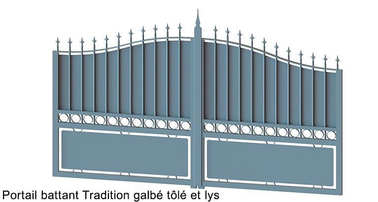 portail-battant-tradition-galbé + Lys Tolé